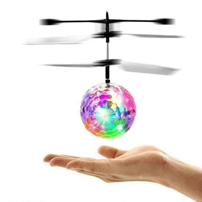 Balle Jouet RC Hélicoptère Boule LED pour Enfants